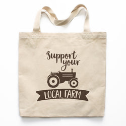 Support Your Local Farm Canvas Tote Bag