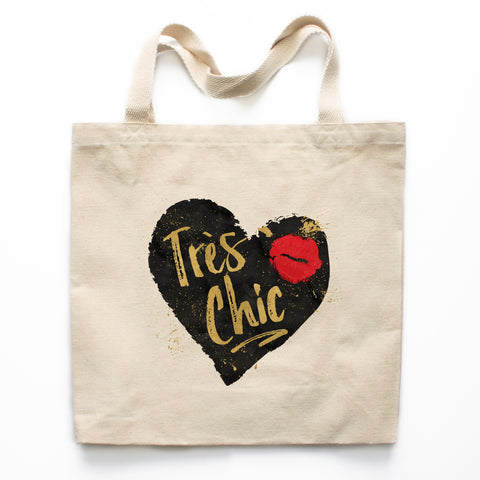 Tres Chic Canvas Tote Bag