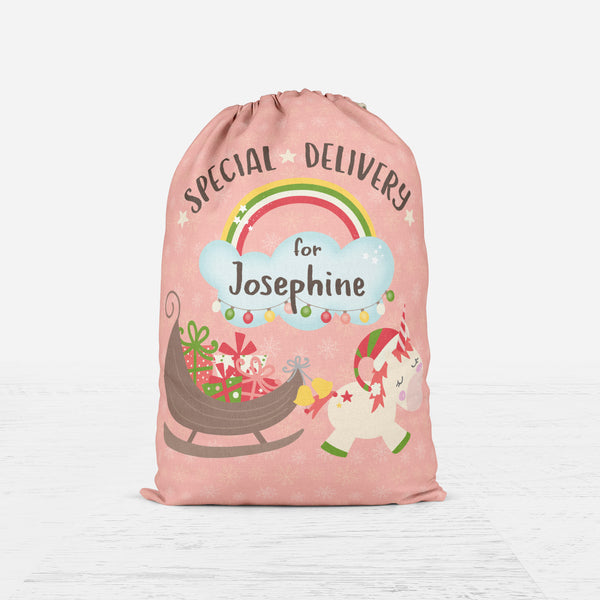 Unicorn Santa Sack - Santa Gift Bag
