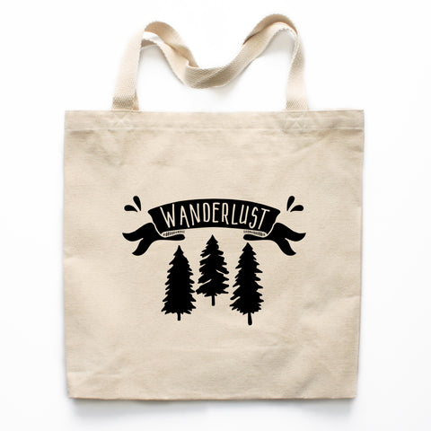 Wanderlust Canvas Tote Bag
