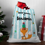 Winter Fox Santa Sack - Santa Gift Bag