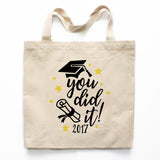 You Did It Graduation Canvas Tote Bag