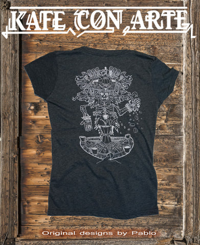 Aztec God of Coffee Vneck
