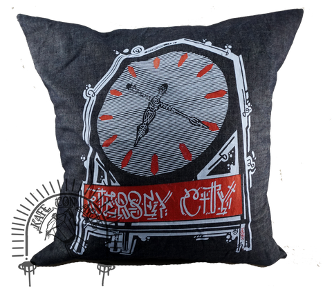 Jersey City Landmark Clock Pillow