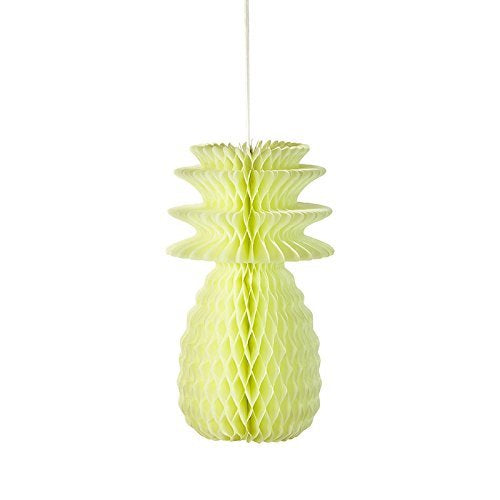 Talking Tables Decadent Decs Hanging Honeycomb Pineapple Décor for a BBQ, Luau, or Summer Party, Multicolor