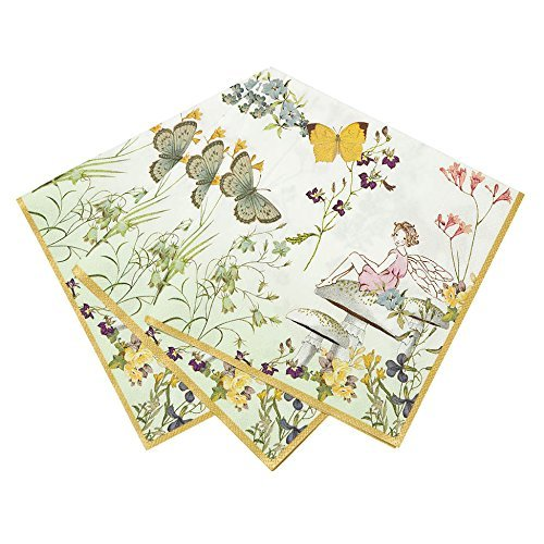 Talking Tables Truly Fairy Paper Napkins (13 inch) for a Birthday Party or Tea Party, Multicolor