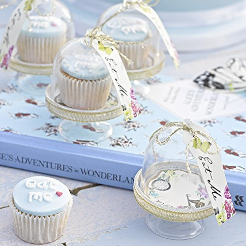 Talking Tables Truly Alice Mad Hatter Cake Domes for a Tea Party or Wedding, Multicolor
