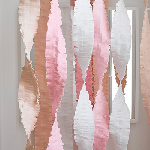 Talking Tables Decadent Decor 13ft Crepe Paper Streamers for your Home Décor or Birthday Party, Blush/Gold/Pink