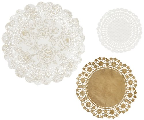 Talking Tables Metallic Party Porcelain Gold Doilies