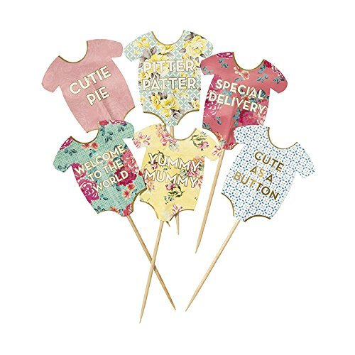 Talking Tables Truly Scrumptious Baby Grow Cake Toppers for a Baby Shower, Multicolor