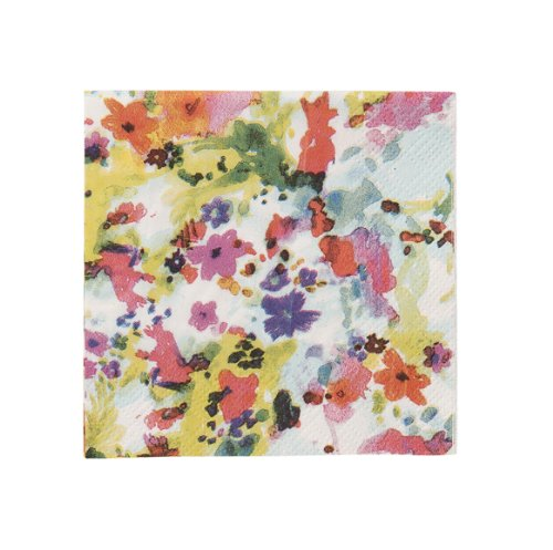 Talking Tables Floral Fiesta Amuse Bouche Floral Canape Napkins for a Tea Party, Birthday or Luau Party, Multicolor