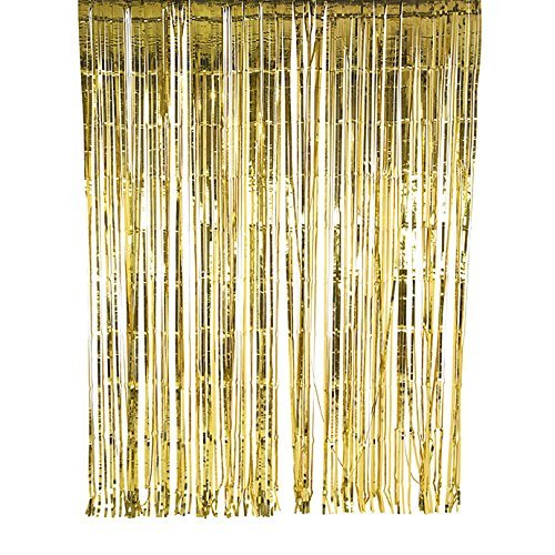 Talking Tables Glitterati Gold Foil Party Curtain, 2 x 2 m, Multicolor