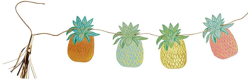 Talking Tables Fiesta Pineapple Hanging Bunting for a General party decoration or birthday party, Multicolor