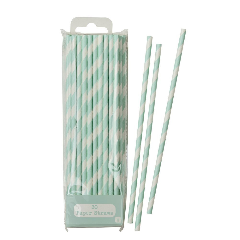 Talking Tables Mix And Match Paper Straws for a Tea Party & General Party Decoration, Mint