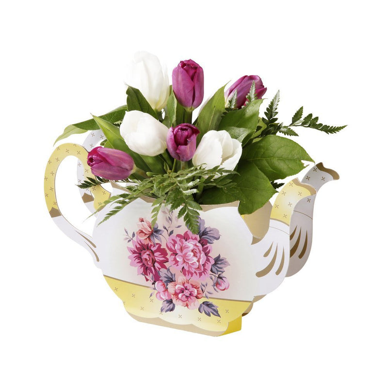 Talking Tables Truly Scrumptious Floral Vintager Teapot Vase Decoration for a Tea Party, Multicolor