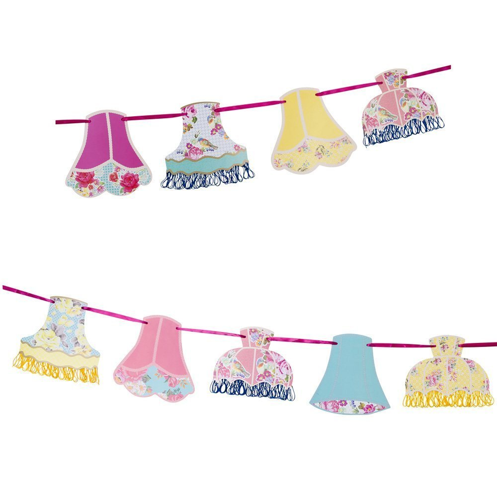 Talking Tables Truly Scrumptious Floral Lampshade Hanging Bunting Garland for a General Celebration, Multicolor