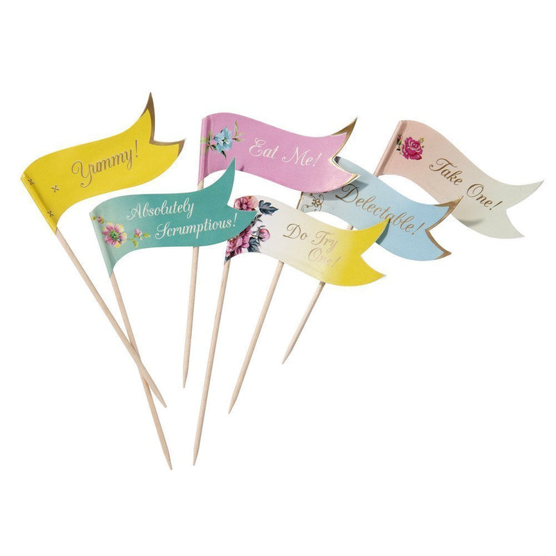 Talking Tables Truly Scrumptious Canape Flag Picks for a Tea Party or Birthday, Multicolor