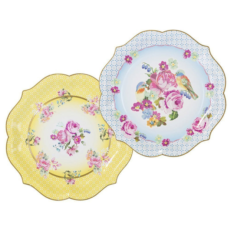 Talking Tables Truly Scrumptious Large Paper Serving Plates for a Tea Party or Birthday, Yellow