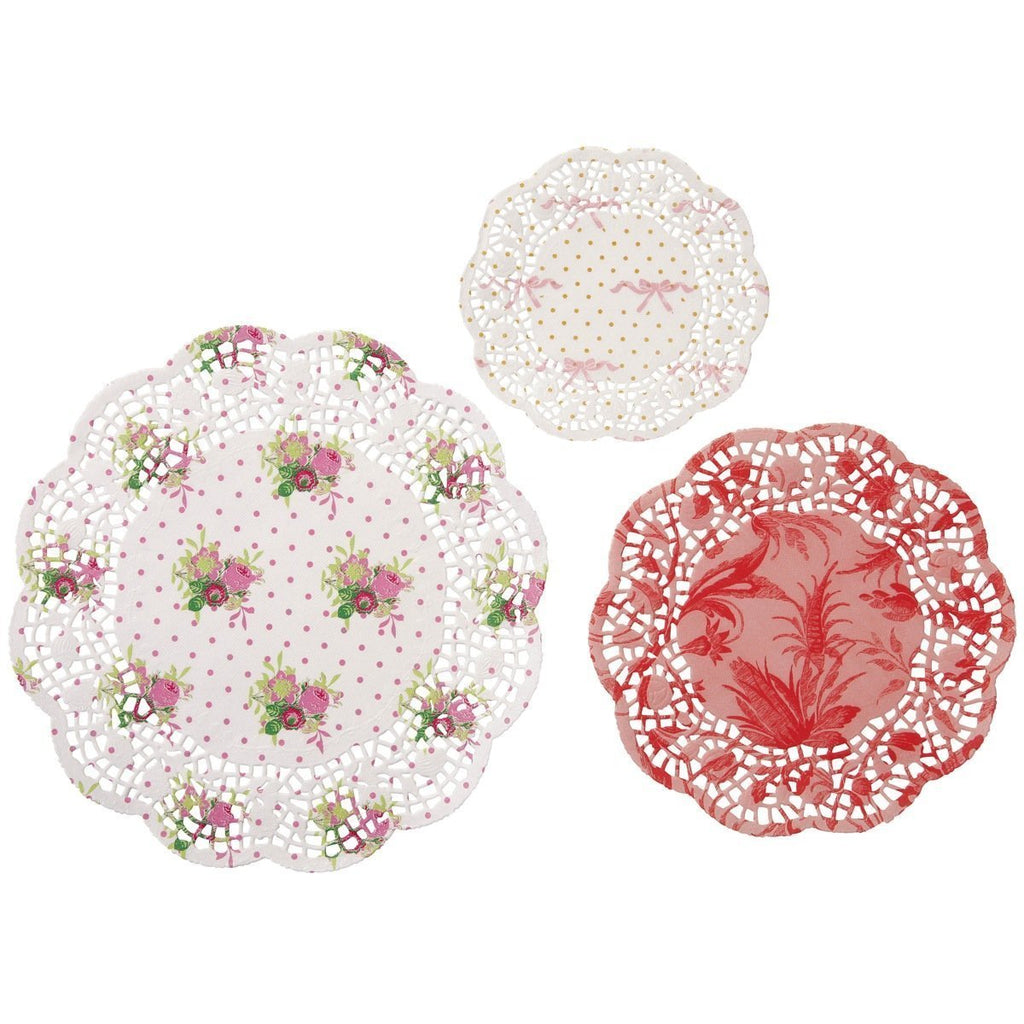 Talking Tables Frills & Frosting Décor Paper Doilies for a Tea Party, Birthday or Baking, Multicolor
