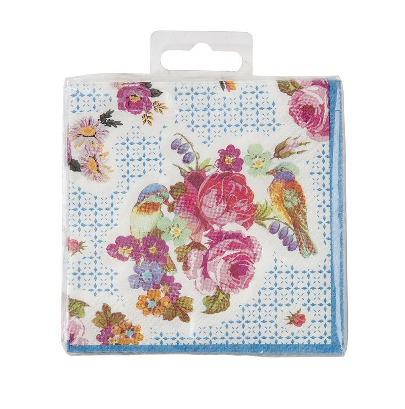 Talking Tables Truly Scrumptious Floral Amuse Bouche Canape Napkins for a Tea Party or Birthday, Multicolor