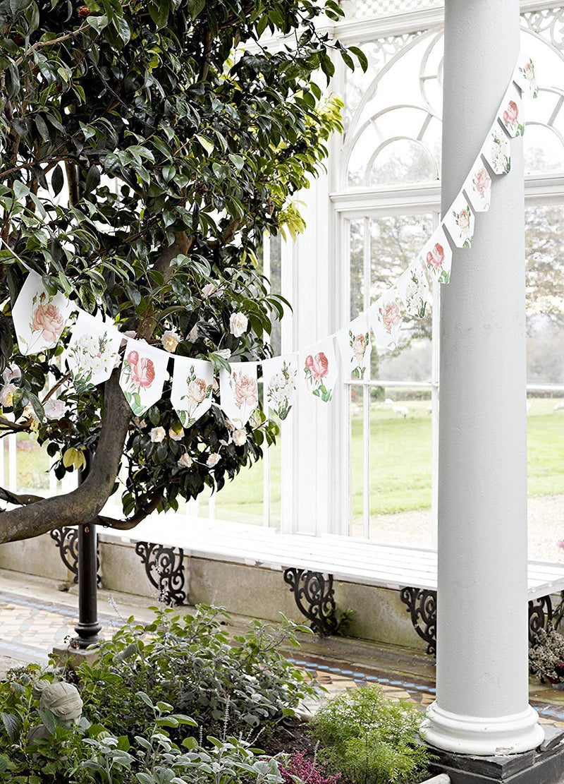 Talking Tables Blossom Floral Hanging Bunting Garland for a General Decoration, Multicolor