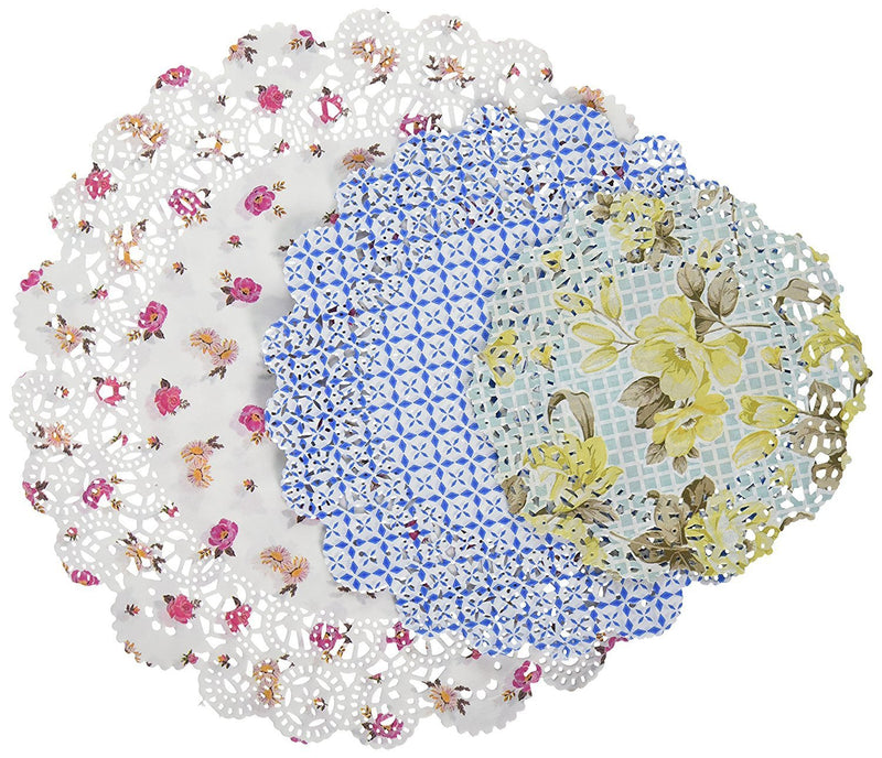 Talking Tables Truly Scrumptious Floral Paper Doilies for a Tea Party, Multicolor