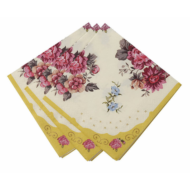 Talking Tables Truly Scrumptious Floral Napkins for a Tea Party or Birthday, Multicolor