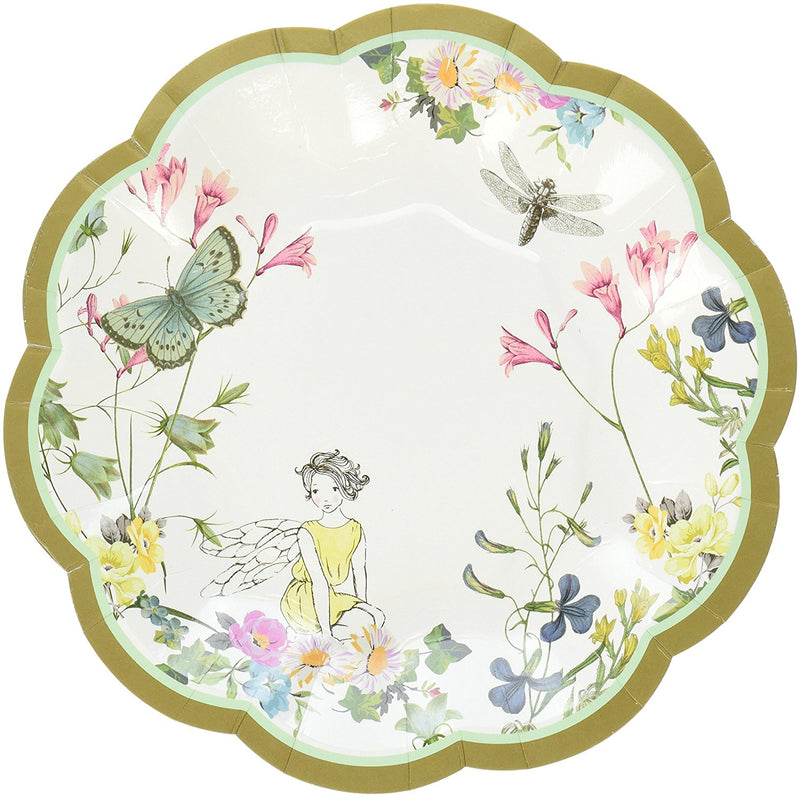 Talking Tables Truly Fairy Paper Plate with Fairy Design for a Tea Party or Birthday, Multicolor