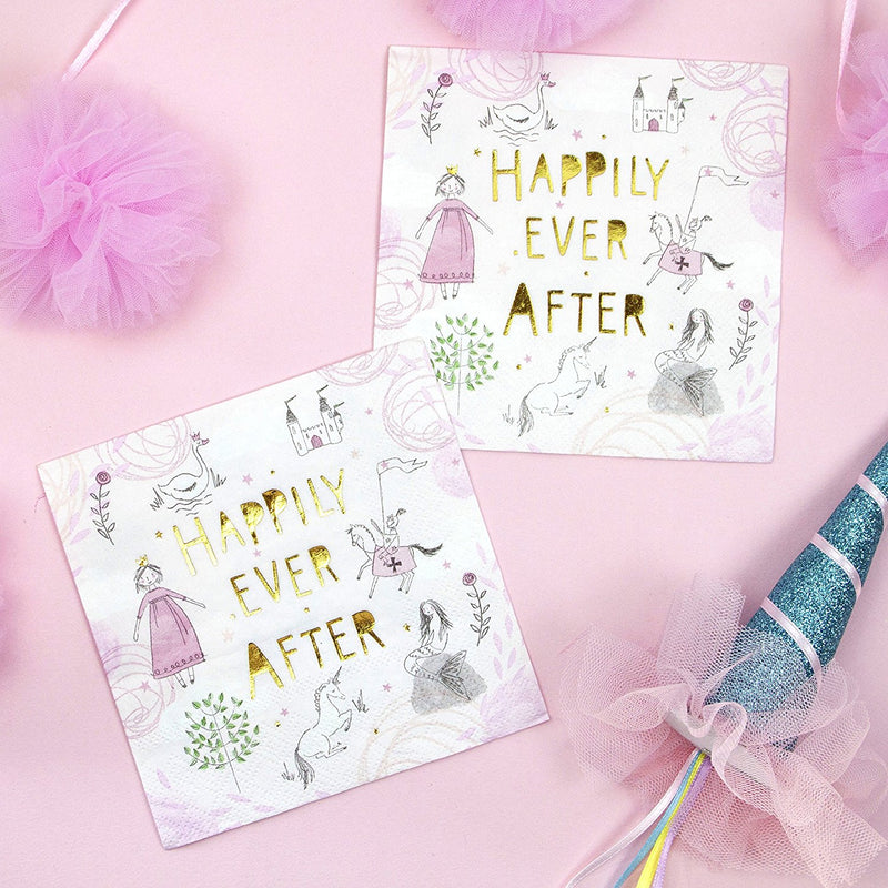 Talking Tables We Heart Fairytale Bundle for Children's Birthdays, Parties or Celebrations | Paper Plates, Napkins & Table Cover