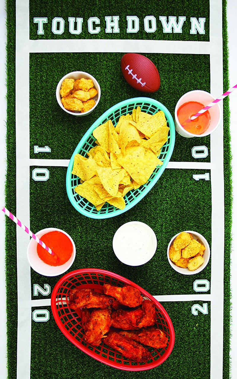 Talking Tables Artificial Grass Table Runner for Game Day, Easter, Birthdays & Weddings, 4.9 Ft. x 15.7 In. , Green