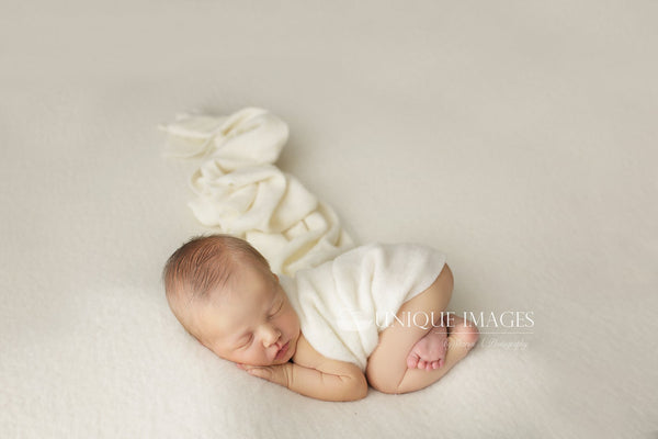 ~ Asher ~ double sided fabric in off white (wrap only left)