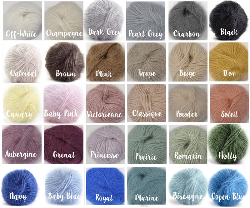 ~ Galler Yarns ~ Belangor Angora ~ Fuzzy Knitting Yarn
