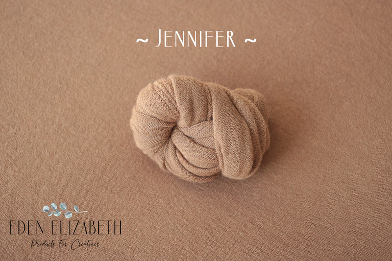 ~ Jennifer ~ classic, lightly textured fabric in caramel