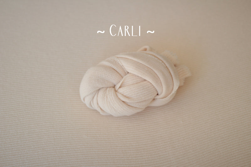 ~ Carli ~ rib knit fabric in champagne