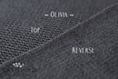 ~ Olivia ~ double sided fabric in deep grey