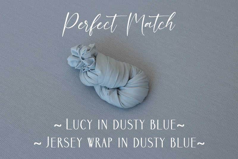 ~ Lucy ~ double sided fabric in dusty blue