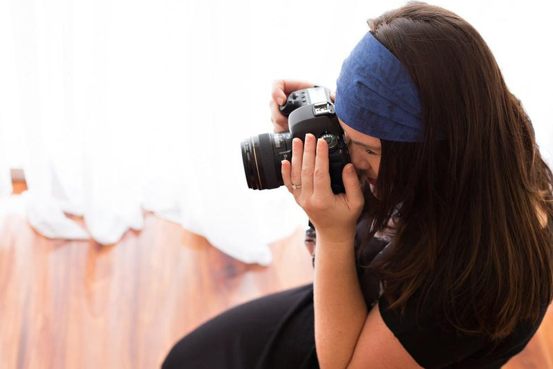 ~ Photographer's Headband Tie-Back ~ Many Colours