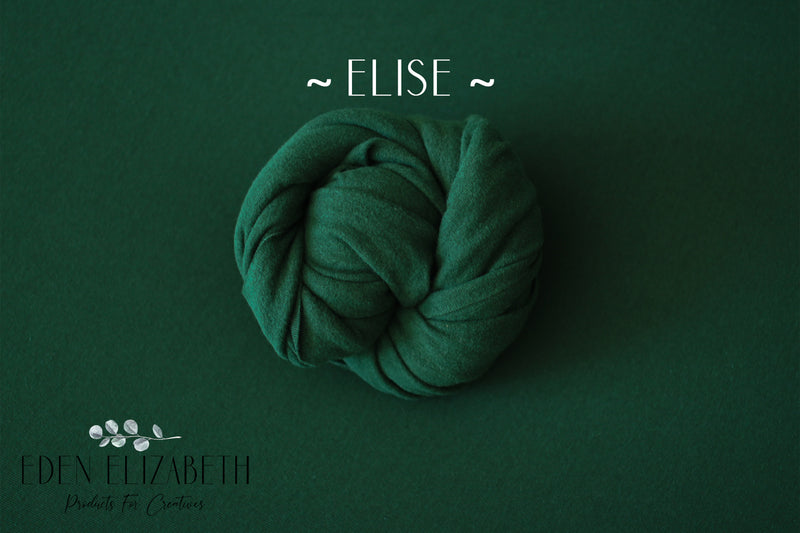 ~ Elise ~ 4 way stretch, seamless fabric in hunter green