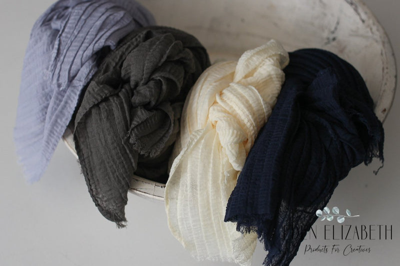 ~ Pleated light layering wraps ~ all colours