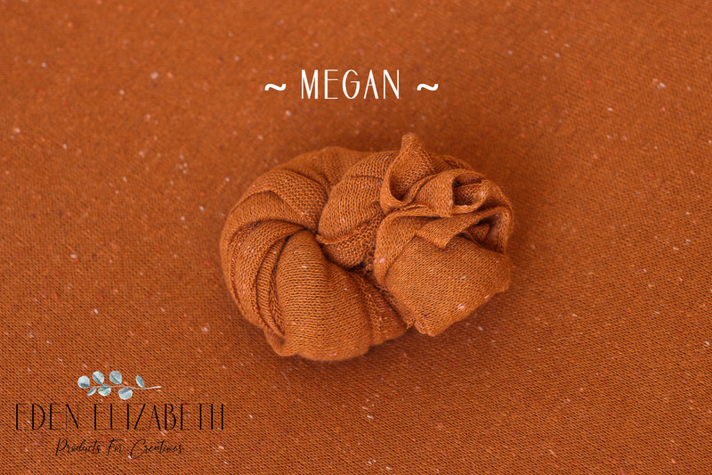 ~ Megan ~ speckled fabric in nutmeg