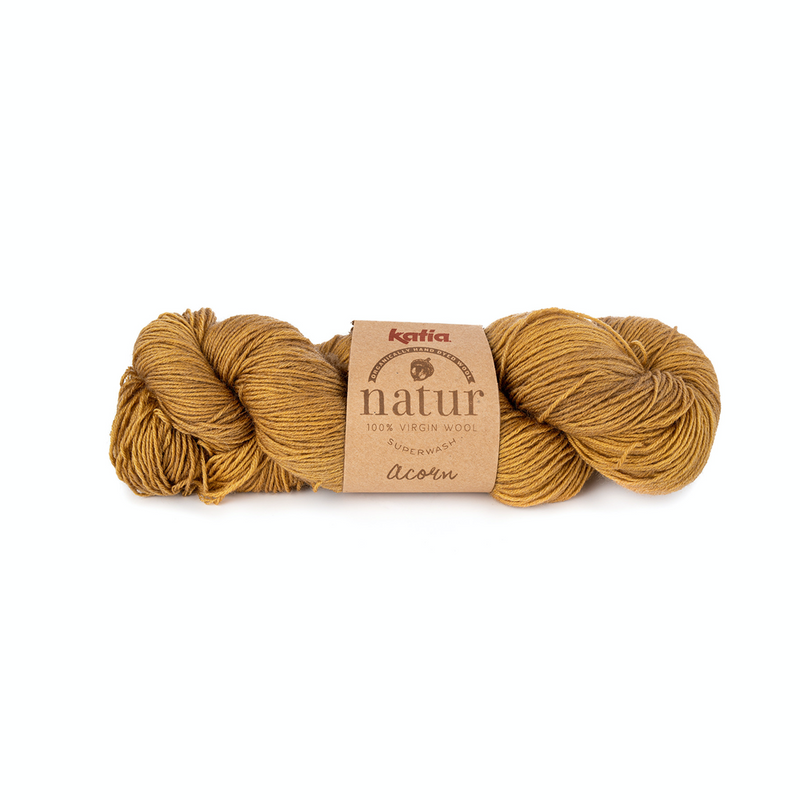 ~ Katia ~ Natur ~ 100% Virgin Wool, Organically dyed ~ 4 ply