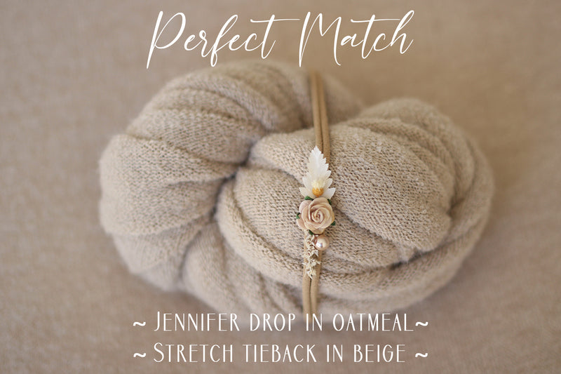 ~ Jennifer ~classic, lightly textured fabric  in oatmeal