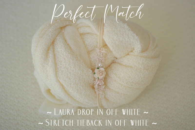 ~ Laura ~ subtly textured fabric in off white