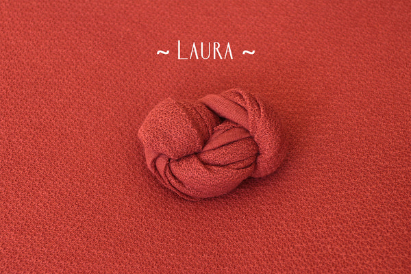 ~ Laura ~ subtly textured fabric in paprika