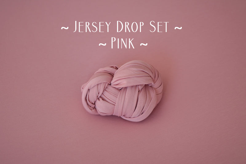 ~ Jersey ~ Drop & Wrap Sets ~ in pink