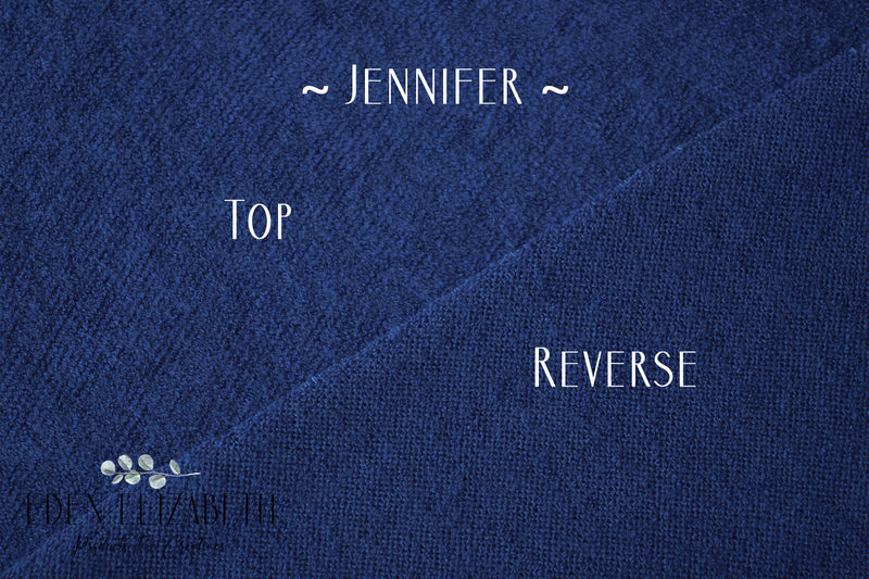~ Jennifer ~ classic, lightly textured fabric in royal blue