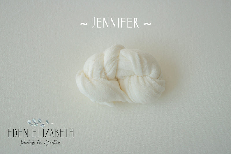 ~ Jennifer ~ in classic, lightly textured fabric off white