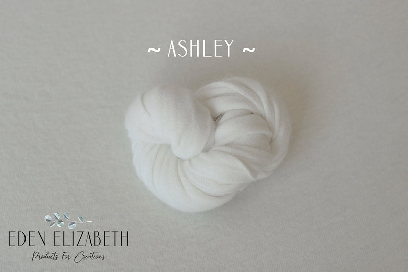 SECONDS ~ Ashley ~ angora/mohair blend fabric in white