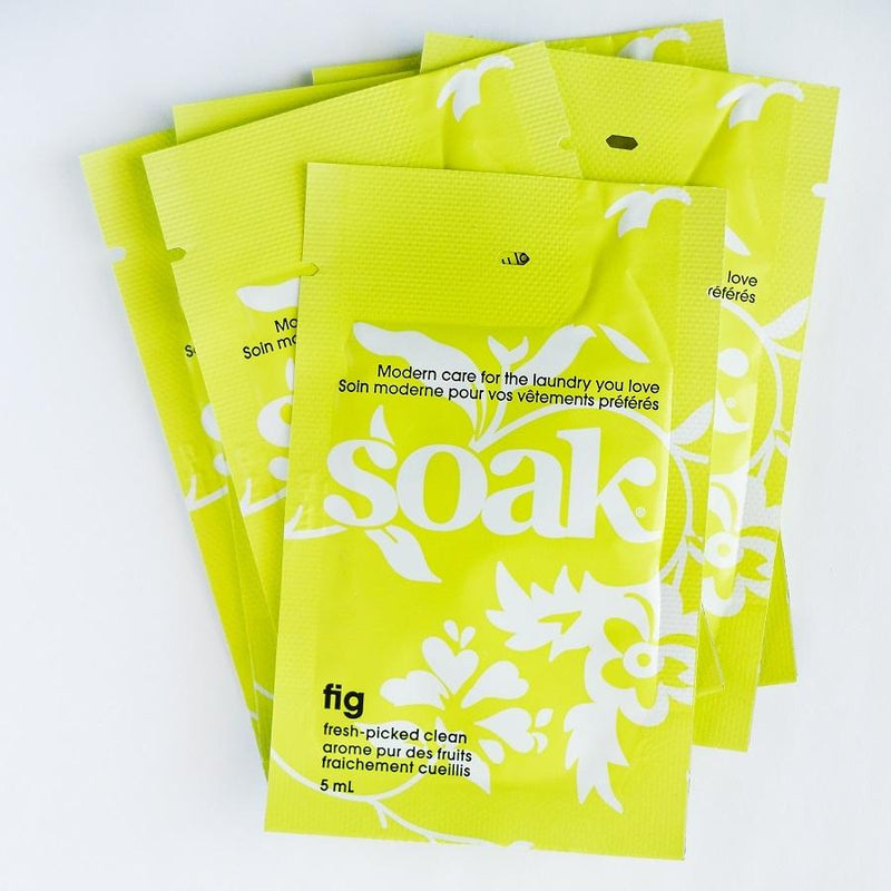 ~ Soak ~ Delicate laundry detergent for knits & laundry items ~ Mini Sachets
