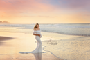 ~ Rose ~ Lace Off-the-Shoulder Maternity Gown in White